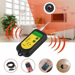 Wholesale Wireless Signal Detectors - Wireless Signal RF Detector Tracer Mini Camera Finder Sensor 100-2400 MHZ GSM Alarm Device Radio Frequency Check DDA322