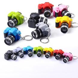 Lumières caméra couleur en Ligne-LED lumière voix clés boucle multi couleur nouveau reflex caméra chaîne porte jouet pendentif sac à dos 3hl c