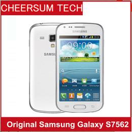 S7562 Teléfono original Samsung galaxy Trend Duos s7562 tarjetas sim dual GSM 3G 4.0 '' Wifi GPS 5MP Cámara desbloqueada Teléfono celular restaurado desde fabricantes