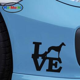 2019 herramientas volwwagen vw Venta al por mayor etiqueta engomada del coche Jdm decoración amor Whippet perro ventana calcomanía puerta posterior Stiker para pared refrigerador galgo
