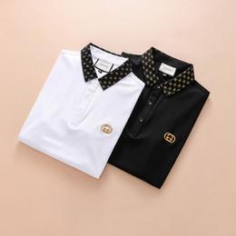 Wholesale Korean Polo Shirts - aa 2018 new men's short-sleeved Polo shirt men's cotton T-shirt trend Korean casual Paul shirt
