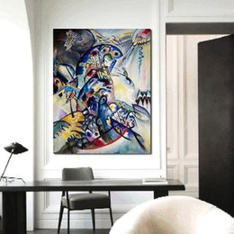 Wholesale Kandinsky Abstract Paintings - Wassily Kandinsky Wall Pictures For Living Room Canvas Art Home Decor Modern No Frame Oil Painting