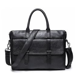 Bolsos de moda para hombres online-Nuevos Pu Leather Men Maletín Bolsas Hombres Messenger Bags Business Retro Trendy 12 Pulgadas Ordenador portátil Bolso Computer Bag 37 * 9 * 30 Cm