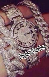 Wholesale womens ladies watch - Best Version 36mm Super Luxury Steel Case All Diamond Bezel Dial Roman Markers Swiss Quartz Womens Watch Ladies Lady Watches New Style