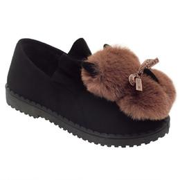 Обувь для кроликов онлайн-Зима меховая обувь женщина открытый теплый плюшевые меховые тапочки кроличьи уши крытый слайды домашние тапочки скольжения на дом женщина мулы