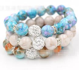 Wholesale Acrylic Rhinestones 12mm - New Bead Jewelry 12mm Disco Ball Stretch Bead Bracelet 12mm Acrylic Bead Flex Bracelet for Women Gifts