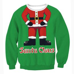 c635166f6 papai noel Desconto 2018 mulheres natal hoodies santa claus impresso  engraçado xms moletom com capuz de