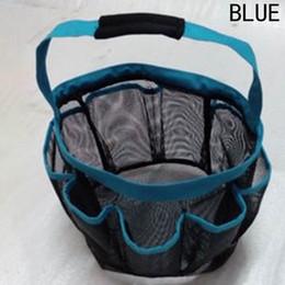 Wholesale plastic mesh bags - 8 Pocket Mesh Shower Caddy Tote Eco Friendly With Handle Wash Bag Plastic Folding Storage Baskets Four Colors 10 5wx B