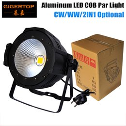 Wholesale Led Par Lights Cheap - Cost-effective LED 100W Cold White Warm White COB Par Light Aluminum Case DMX Control Big Cooling Fan Cheap Stage Light