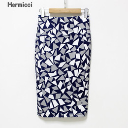 Wholesale Plus Size Yellow Pencil Skirt - Hermicci Plus Size Women Pencil Skirts 2017 New Fashion Slim Office Flormal Skirt Ladies Bodycon Skirts Elegant Open Slit