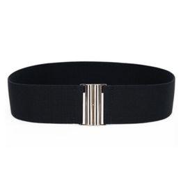 Útil 1 UNID Mujeres Elegantes Señora Girls Silver Buckle Anchura Elástica Corsé Cinturones Cinturones Cintura Accesorios de Ropa desde fabricantes