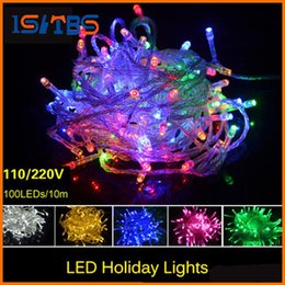 Wholesale Rgb Led Net Lights - Christmas LED Strips 10M string Decoration Light 110V 220V For Party Wedding led twinkle lighting Christmas decoration lights string