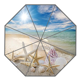 Wholesale Foldable Umbrellas - New Arrive Custom Beach, starfish Umbrellas Creative Design High Quality Foldable Rain Umbrella