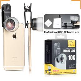 abnehmbares telefonobjektiv Rabatt Aerb Phone Kamera Objektiv abnehmbare Objektiv Clip Beruf HD10X Makro für Smartphone Mikroskop