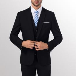 Terno de negócio de uma peça on-line-Terno de duas partes formal do botão do lazer do negócio do terno magro dos homens para o casamento do noivo