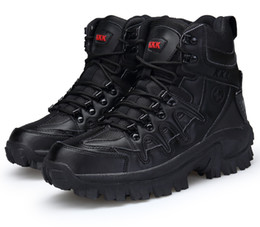 Wholesale wholesale men boots - Wholesale outdoor tactical boots wear-resistant shock absorber outdoor shoes, hiking shoes snow boots army boots free shopping