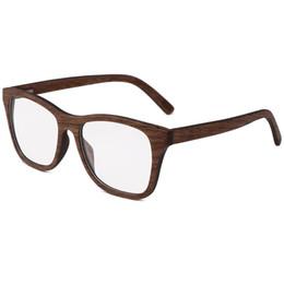 8cbc133c50e BerWer Walnut wood Prescription Eyeglasses Frames For Men and Women Wood Optical  Glasses Frame with Clear Lens