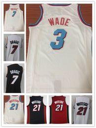 Wholesale free ncaa - NCAA 2018 Men Fan 21# Hassan Whiteside jersey 3# Dwyane Wade City basketball jerseys 7# Goran Dragic Red Embroidery shirts Free Shipping