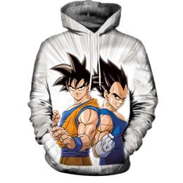 Wholesale Dragon Ball Z Hoodie - 3D Print Sweatshirt Dragon Ball Z Goku Super Saiyan 3d Hoodies Mens Womens Pullover Tops Hooded Tracksuit Streetwear