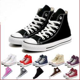 Wholesale mint drop - Factory price femininas canvas shoes women and men high Low Style Classic Canvas Shoes Sneakers Canvas Shoe big size35-46 Drop ship