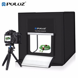 профессиональная светлая коробка фотографии Скидка PULUZ Portable Photo Studio Box 16 inch 40cm Portable Photography Lightbox Tent Professional Foldable Shooting Lighting Softbox