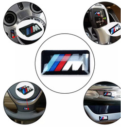 Wholesale Car Bmw X6 - 3D Emblem Sticker Decals Logo For bmw M Series M1 M3 M5 M6 X1 X3 X5 X6 E34 E36 E6 Car Styling Stickers