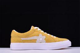 Wholesale Canvas Wrestling Shoes - One Star Creator X Tyler Golf Le Fleur Chamois Men's Sports and Leisure Shoes Women's Skateboard Shoes Yellow Canvas Shoe Hip Hop