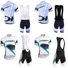 Bibs de ciclismo on-line-ORBEA equipe Ciclismo Mangas Curtas jersey (babador) conjuntos de bermudas Pode Design Personalizado Verão Motociclista Ciclismo Sports set c2611