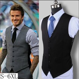 Wholesale White Duck Costume - S-6XL New Summer And Autumn Thin Suit Vest Male Dress Vest Bar Work Wear Costumes Sleeveless Formal Business Best Men