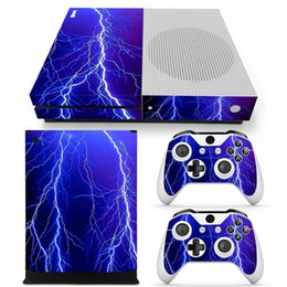 Wholesale Game Stickers - Game Accessories Protective Decals For Microsoft xbox one S Console and 2 Controllers Cover Skin Stickers