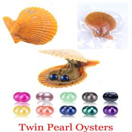 2018 bricolage perle naturelle 6-7 MM perle ronde dans les huîtres Akoya Oyster Shell avec des perles de Colouful bijoux par coquille rouge emballé sous vide ? partir de fabricateur