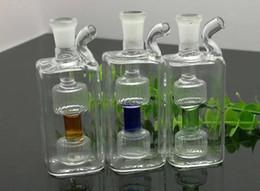 Мини-квадратные стеклянные бутылки онлайн-Мини-квадрат стеклянная бутылка воды Оптовая стеклянные бонги масляная горелка стеклянные водопроводные трубы нефтяные вышки курение YYH