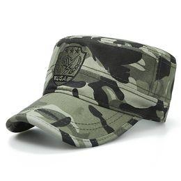 a17fa01c9e5 Sun visor fan color duck tongue young men and women quality cotton army cap  simple casual flat top men s bones adjustable size code cap
