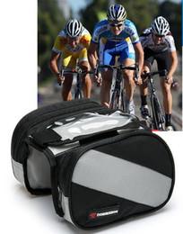 telefone 4.3 Desconto Mountain Road Bike Bag Touchscreen Saco de Bicicleta Dupla Bolsa Ciclismo Frente Frame Pannier Tubo para 4.3