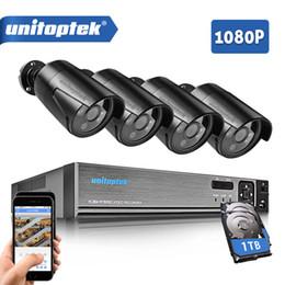 Wholesale cctv box ip camera - 4CH 1080P HDMI P2P AHD DVR Surveillance System Video Output 4PCS 2000TVL 2MP IP Camera Home Security CCTV Kits