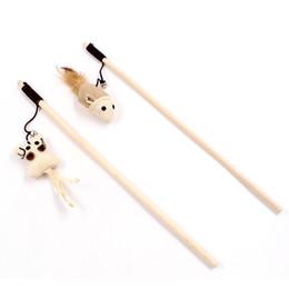 Canada 40 CM En Bois Bâton Drôle Chat Jouets Pet Plomb Outils Souris Style Chat Jouets Chien Fun Sticks Bateau Libre supplier dog lead toy Offre