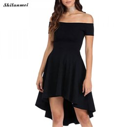 black dress short in front long in back