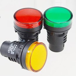 Wholesale Pilot Led Lights - 30mm Red Yellow Blue Green White AD16-30D S LED Indicator Lights Signal Pilot Lamp 12 24 110 220V