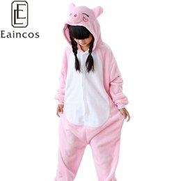 Wholesale Girls Onesie Pajamas - Childen Kids Flannel Onesie Pijamas Cartoon Animal Pink Pig Pajamas Cosplay Party Costume Boys Girls Sleepwear Pyjamas