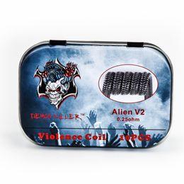 Wholesale Frame Kits - 100% Original Demon Killer Violence Coil Kit Prebuilt Coil Alien V2 Tsuka Coil Clapception Framed Clapton Spaced