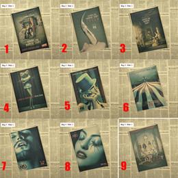 Carta da stampa di decalcomanie a parete online-American Horror Story TV Retro Kraft Paper Poster Art Stickers da parete