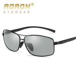 ac377ec0397fb 2018 óculos de sol fotocromáticos homens descoloração polarizada hd óculos  de proteção anti-reflexo de óculos de condução masculino marca óculos de sol  ...