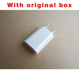 Wholesale Iphone Wall Box - Original Quality A400 with LOGO EU Plug USB AC Power Wall Charger Travel Adapter for iphone 5 6 6S 7 8 PLUS X With Original Box