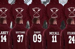 Wholesale Teen Boys Clothing - Beacon Hills Lacrosse Logo Wolf hoodie TeenWolf Stiles Stilinski Teen Hoody Men's Boy Adult Clothing Sweatshirt Plus Size