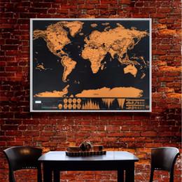Canada Nouveau Design Noir Deluxe Carte À Gratter Voyage Scratch Off Carte Du Monde Meilleur Cadeau pour L'éducation École 82.5x59.4 cm DHL Livraison Gratuite Offre