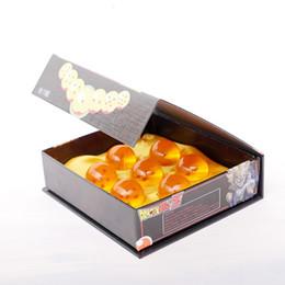 vidro da bola do dragão Desconto Atacado Brand New animação esfera de 7 estrelas Bola de vidro de cristal conjunto de 7pcs com caixa de presente Dragon Ball Z Goku 4.2cm