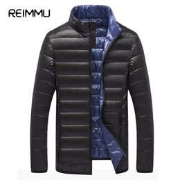 Wholesale Cheap Winter Coats Sale - Reimmu Down Jacket Men Hot Sale Casual Male Cheap Ultralight Down Jacket Coat Brand-Clothing New Fashion Slim Mens Winter Parkas