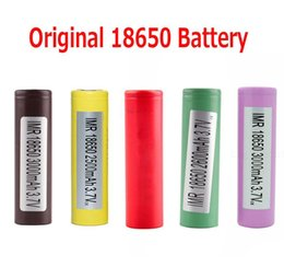 Wholesale Lg Battery Used - Original 18650 Battery LG HG2 Samsung INR18650 30Q 3000MAH HE2 HE4 INR 25R 2500mah Rechargeable Batteries Using Cell 100% Authentic Arts and