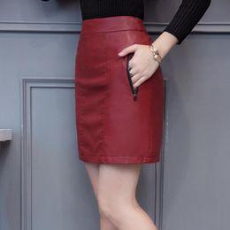 Argentina 2019 primavera nuevas mujeres falda de cuero genuino de moda Cómodo faldas de piel de oveja de alta calidad de cintura alta paquete delgado cadera faldas saia curta cheap genuine package Suministro