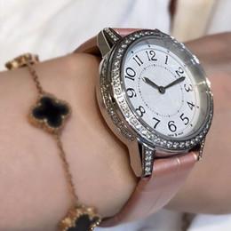 Diamant de luxe pour dames givré montre bracelet en cuir mouvement suisse à quartz saphir miroir mode de haute qualité femmes montre - bracelet ? partir de fabricateur